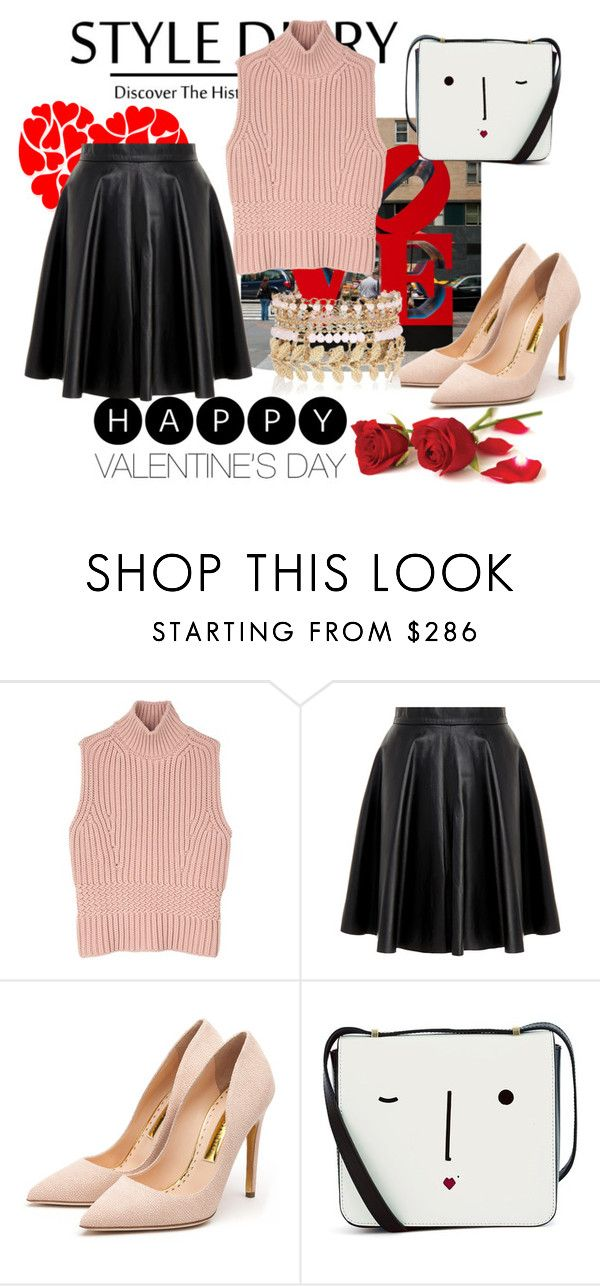 """look Valentines's Day"" by kiane-acza on Polyvore featuring moda, Diesel Black Gold, MuuBaa, Rupert Sanderson, Lulu Guinness, River Island, women's clothing, women, female e woman"