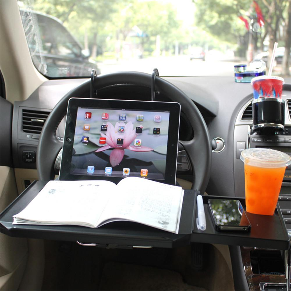 Car Desk Coffee Holder Laptop Computer Table Steering Wheel Universal Portable Eat Work Drink Seat Auto Accessories At All Costs Automobiles & Motorcycles Mounts & Holder