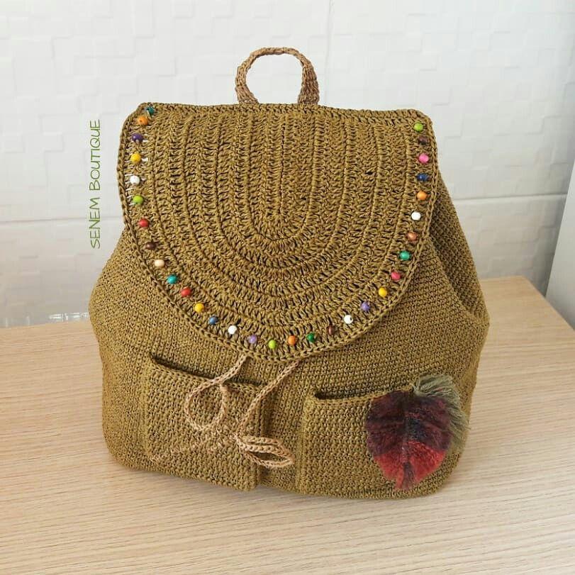 Bitti 🤗 İpim ➡@hobfystore . . . . #kagitipcanta #kagitip #crochet #crochetbag #backpack #çanta #örgü #örgüçanta #elyapimi #giyim #aksesuar #moda #sırtçantası #etnik #otantik #deryaligunler #stricken #virka #tığişi #knit #tejer #fiodemalha #etsy #örüyorsamsebebivar #yarnart