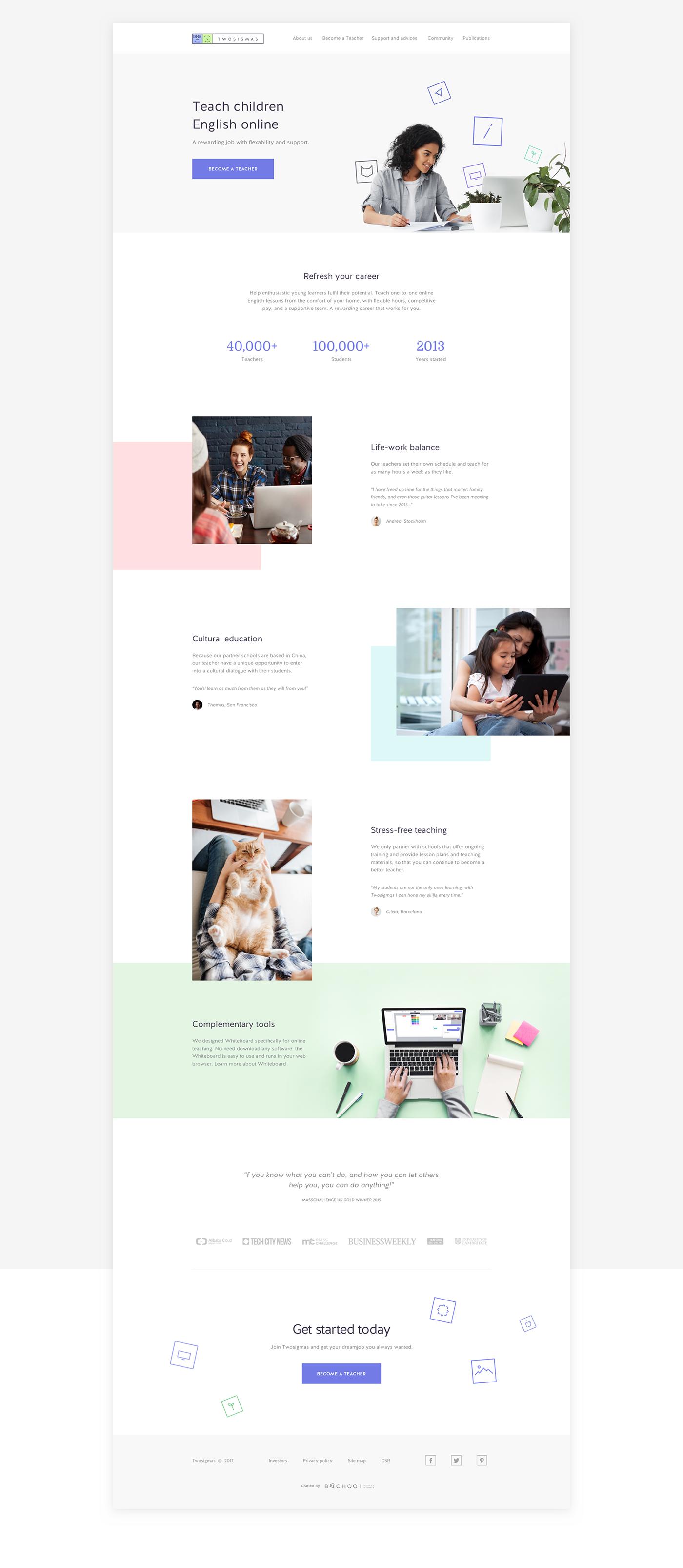 Online Tutoring Twosigmas On Behance Minimal Website Design Elearning Design Learning Website Design