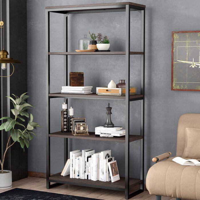 wonderful Brushed Nickel Etagere Part - 13: Moriann Etagere Bookcase