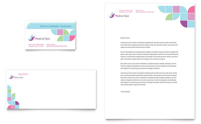 Medical Spa Business Card And Letterhead Design Template By
