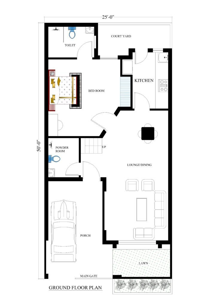 25x50 House Plans For Your Dream House House Plans House Plans Online Dream House Drawing House Map
