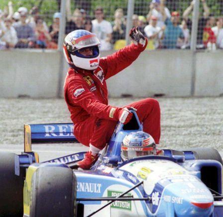 Grand Prix du Canada 1995 - Michael Schumacher and the winner Jean Alesi