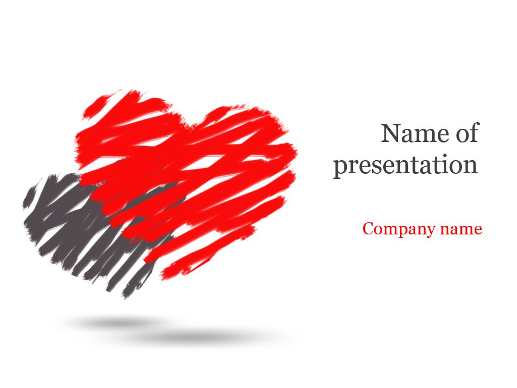 Two hearts powerpoint template templates pinterest power point two hearts powerpoint template toneelgroepblik Image collections