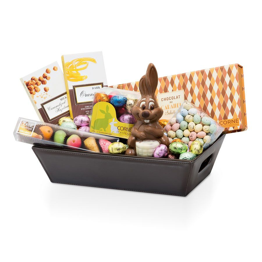 The easter hamper delivery in france by giftsforeurope easter send joyful easter wishes to your family and friends with our outstanding corn port royal belgian chocolate gift basket everyone will delight in the negle Images