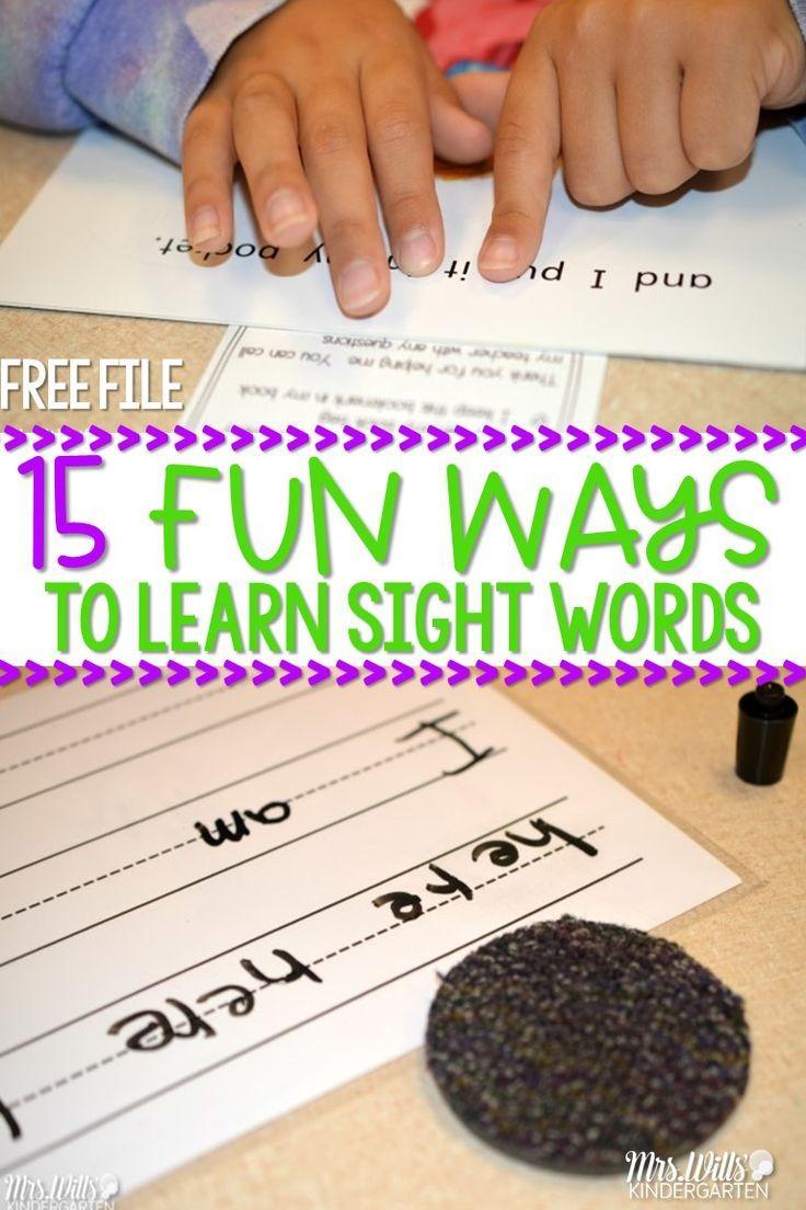 15 Sight Word Ideas | Bright Ideas for the Classroom | Pinterest | Kind