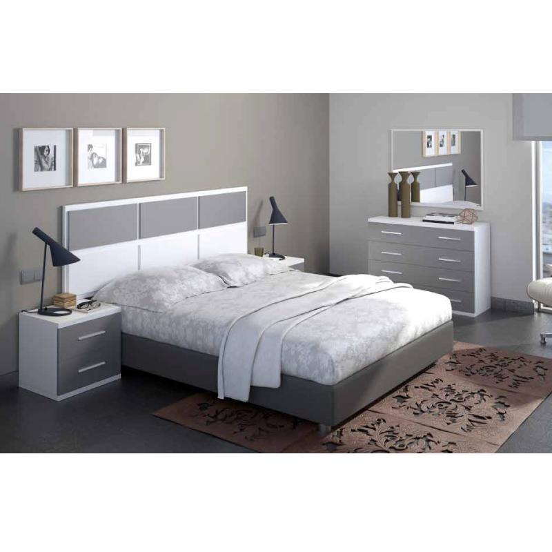 Conjunto de dormitorio compuesto por un cabecero apto tanto para ...