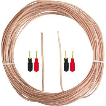 Cable Audio 16 Awg Transparent De 30 M 4 Contacteurs Visionic Leroy Merlin 52 Contacteur