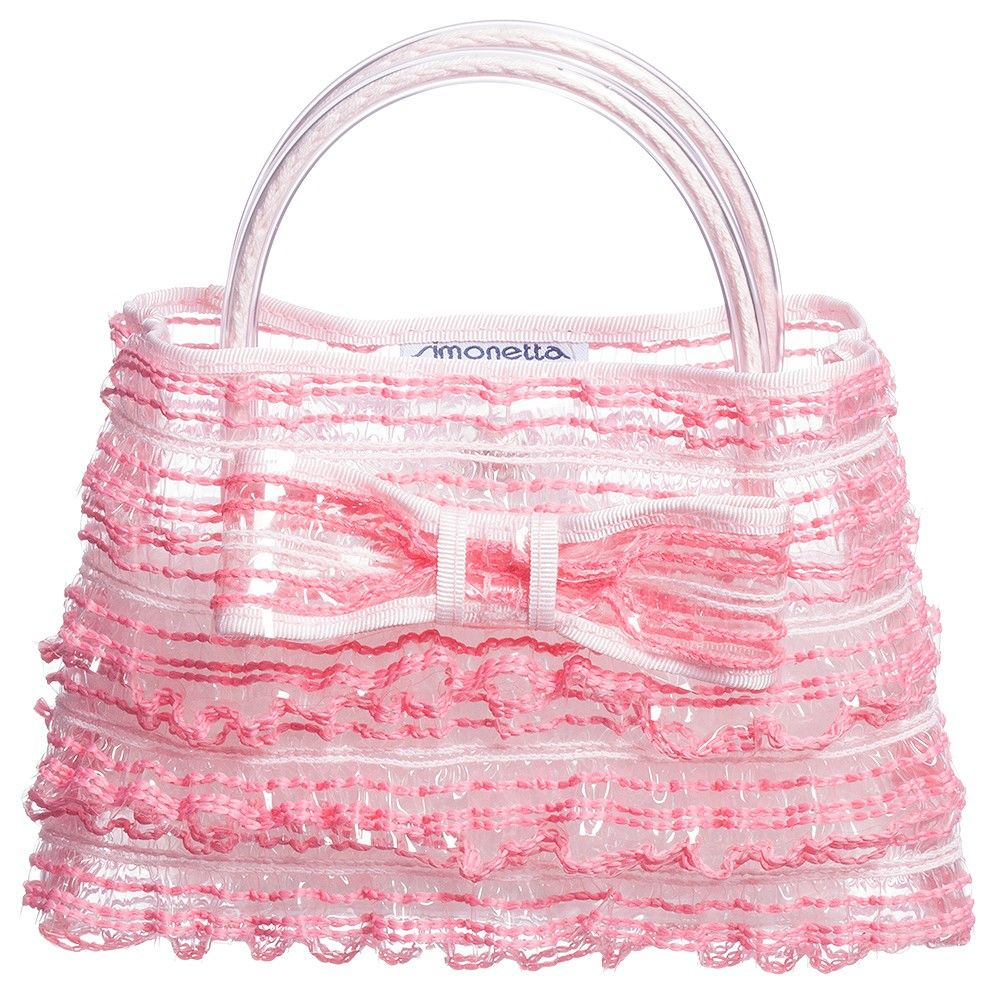 Simonetta Pink Ruffle Handbag (18cm) at Childrensalon.com