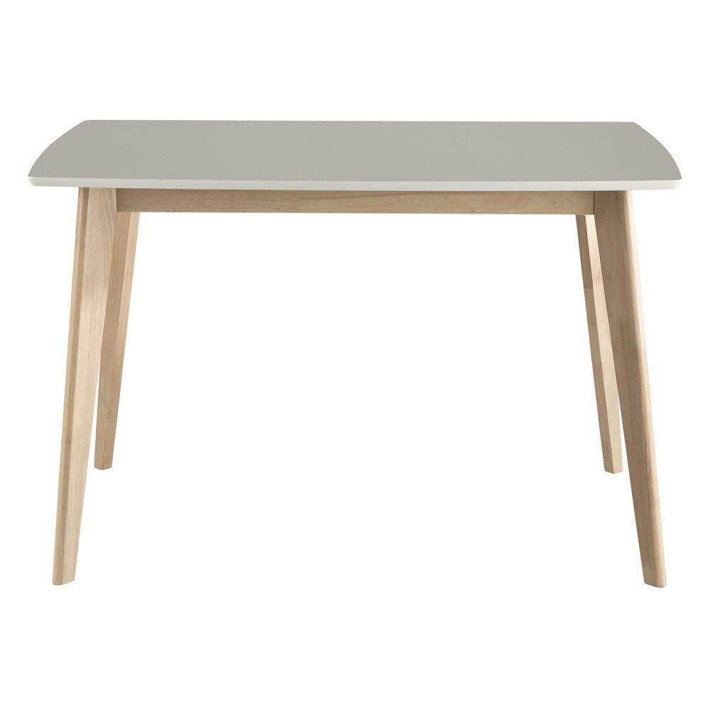 2347fcd5d80c68 Table à manger blanche 4 6 personnes L120   terrasse   Pinterest ...