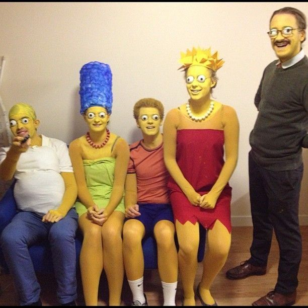the simpsons in real life simpsons costumeslisa simpsonthe simpsonshalloween - Simpson Halloween Costume