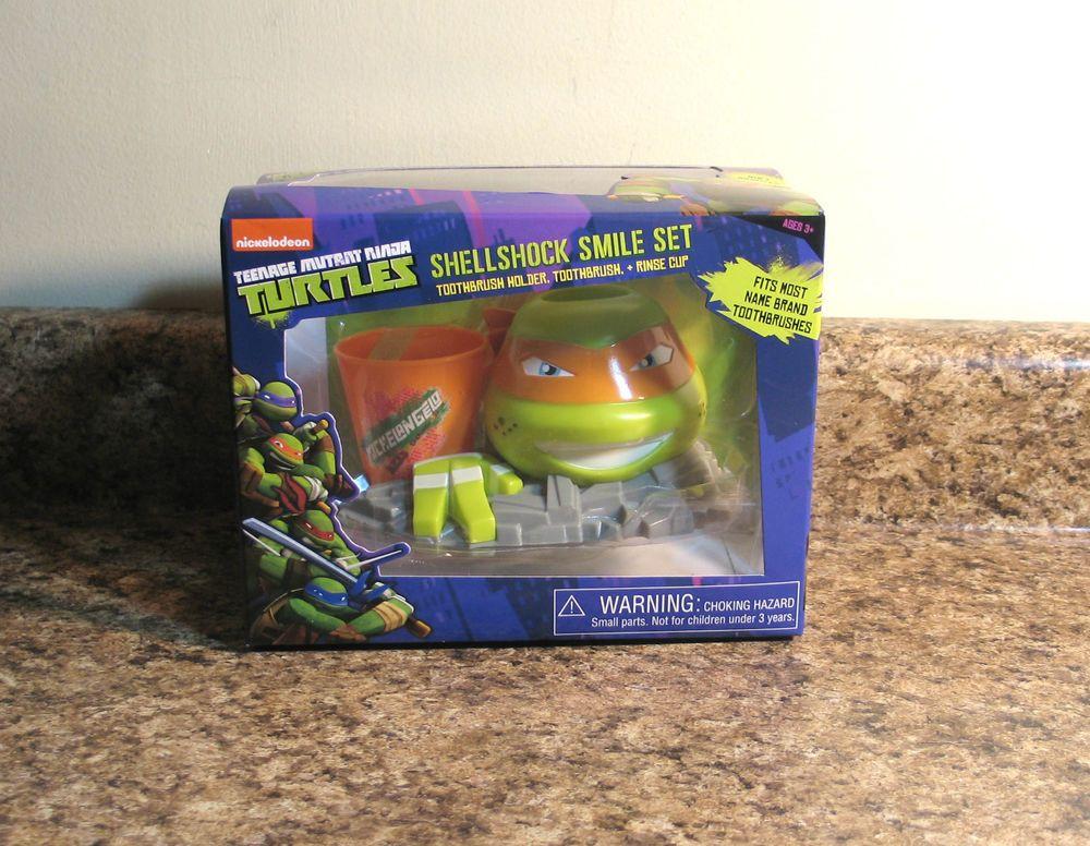 Teenage Mutant Ninja Turtles Bathroom Smile Set Toothbrush Holder Cup  #MZBAccessories