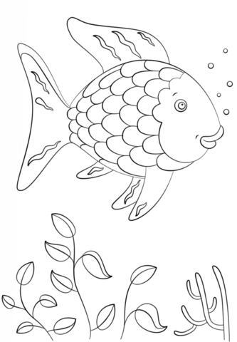 Rainbow Fish Coloring Page Free Printable Coloring Pages Rainbow Fish Book Rainbow Fish Template Rainbow Fish Coloring Page