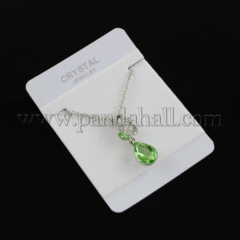 #xmas #Christmas #PandaHall - #PandaHall Trendy Butterfly Glass Rhinestone Pendant Necklaces for Girls, with Iron Chain, LimeGreen, 15.7 - AdoreWe.com