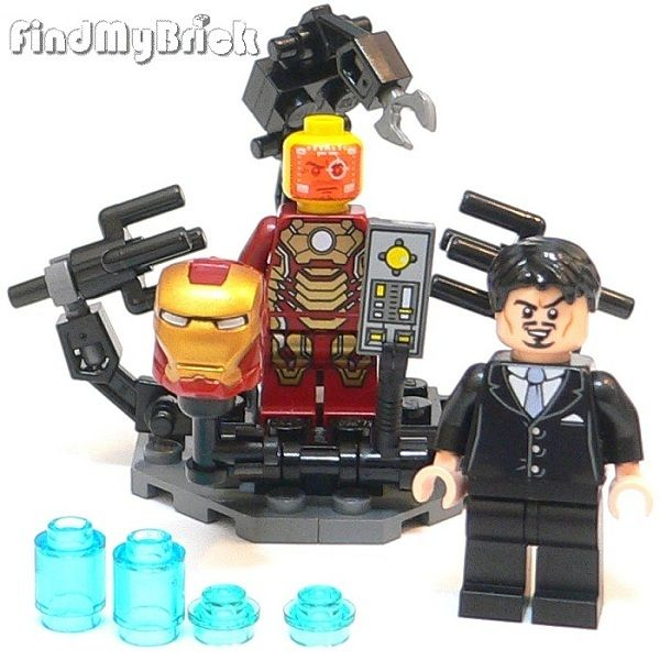 Lego Super Heroes Custom Suit Up Gantry Anthony Tony Iron Man Minifigures New | eBay
