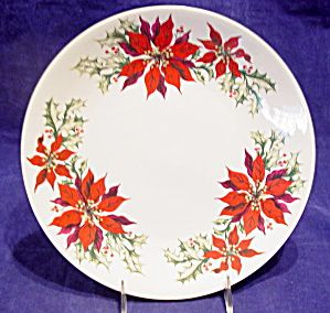Totally Today Poinsettia 4 Piece Place Setting Christmas Dinnerware