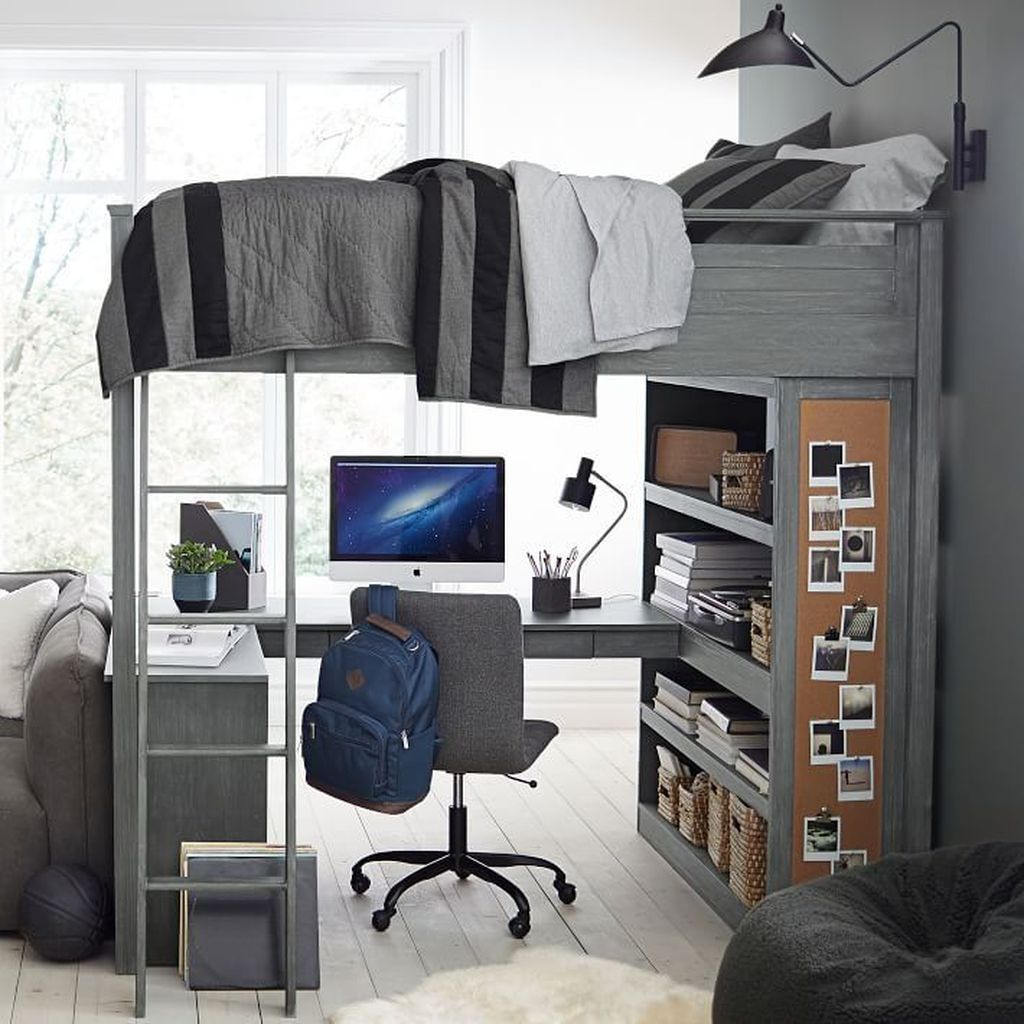 49 Fabulous Sport Bedroom Ideas For Boys Guy dorm rooms