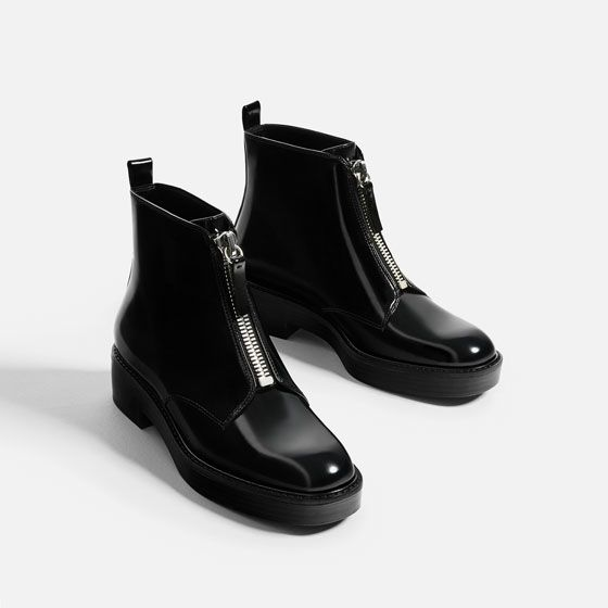 FLAT ANKLE BOOTS WITH ZIP - COLLECTION-SALE-WOMAN. Zara United KingdomZara  ...
