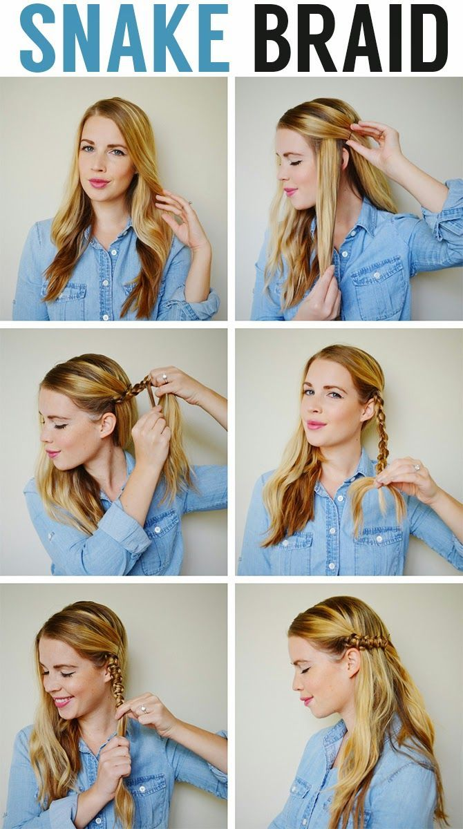 Great Normal Braid Then Take The 2 Pieces Of Hair That Are On The Sides And Than  Pull Up