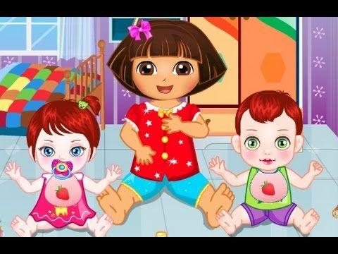 دورا الصغيرة رعاية الاطفال الصغار العاب كرتون دورا للاطفال كامل Anime Cartoon Art