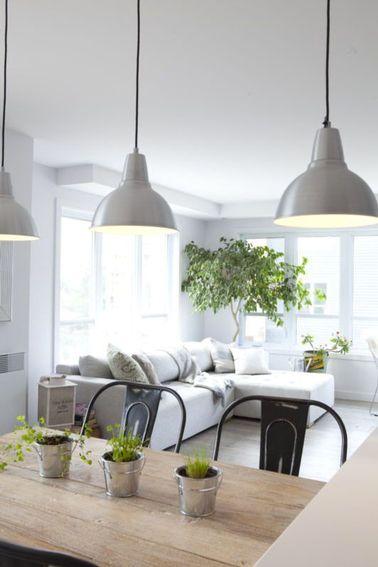 Déco salon blanc et gris ambiance fraiche et lumineuse | Salon ...