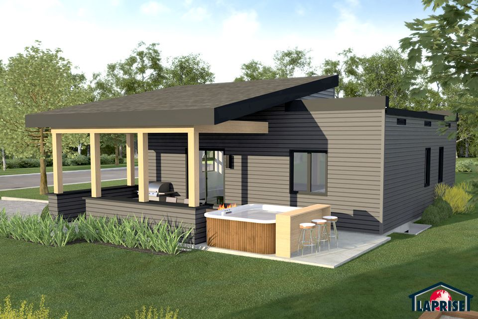 Designer zen contemporary lap0516 maison laprise prefabricated homes homes office - Maison prefab ...