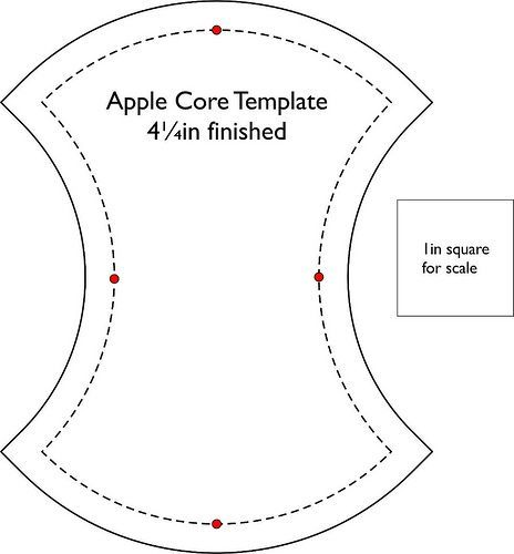 Apple Core Quilt Template Free Diy Quilts Pinterest Template - sample graph paper