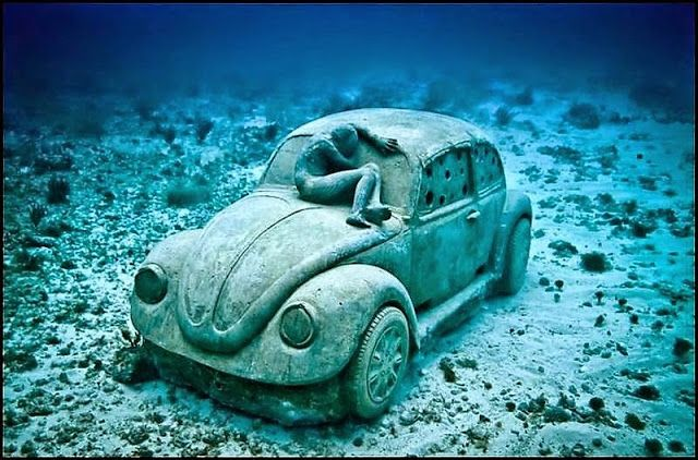 VW kever huisvest kreeften (foto's)