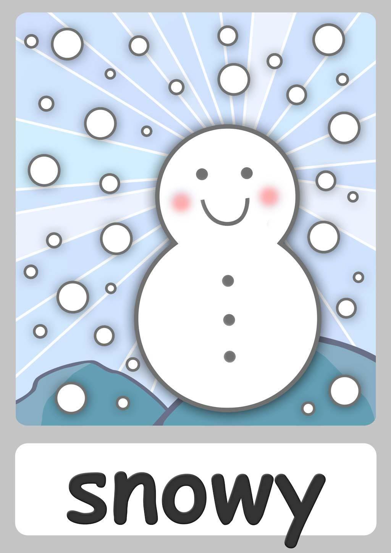 Snowy Flashcard