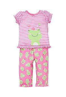 Girl Red Hair Cotton Crewneck Boys-Girls Infant Sleepwear Pajama 2 Pcs Set