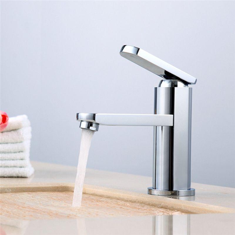 Robinet de lavabo en cuivre chromé pour salle de bain - armatur küche ausziehbar