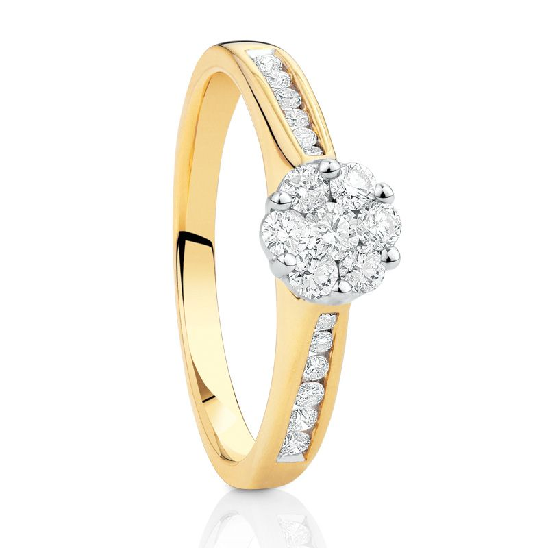 Michael Hill 1 2 Carat Of Diamonds 10ct Gold Available Australia And New Zealand Only White Gold 2 Carat Engagement Rings