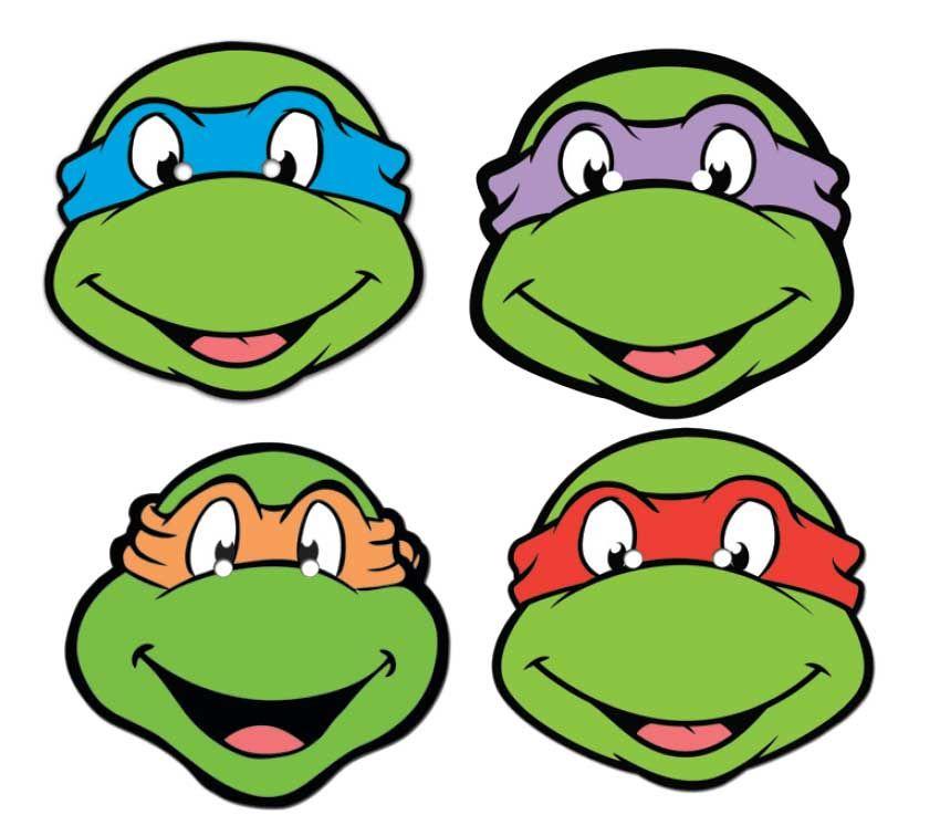 teenage mutant ninja turtles face mask set of 4 ninja turtle mask rh pinterest com