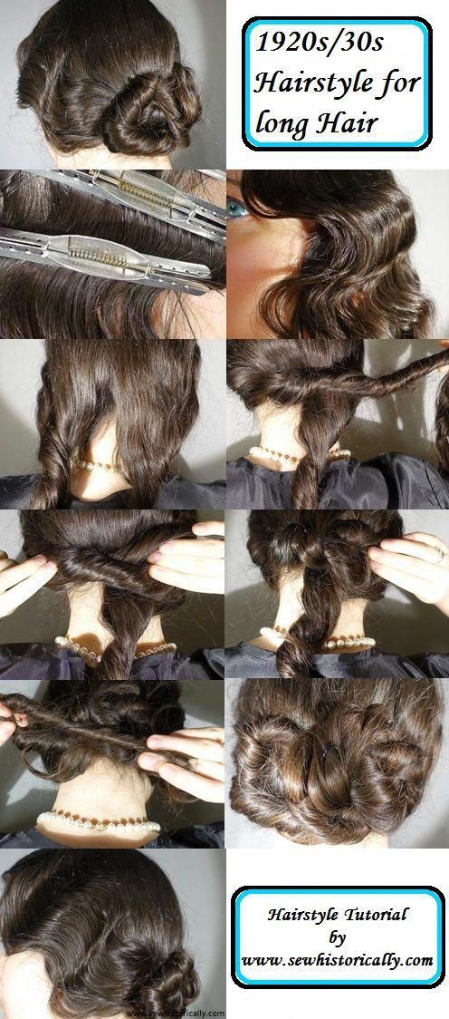 1920s/ 1930s hairstyle tutorial for long hair # ...