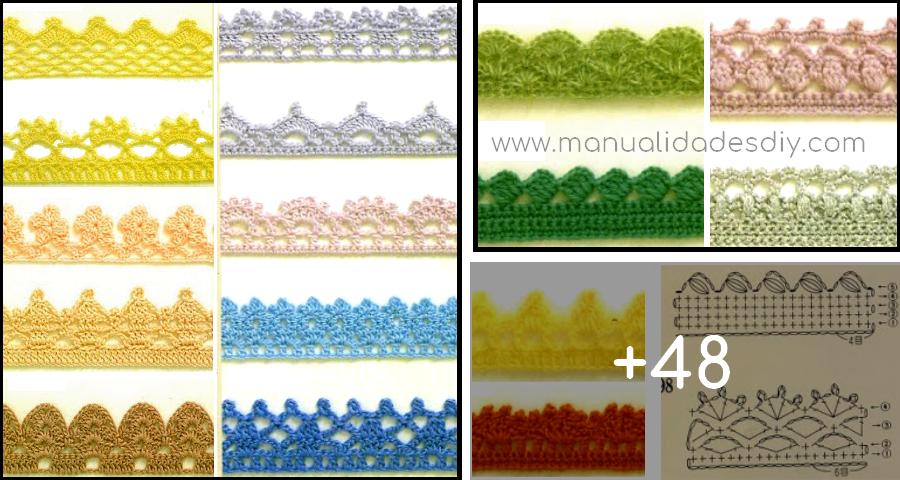 Puntillas en crochet faciles | tejidos | Pinterest | Crochet fácil ...