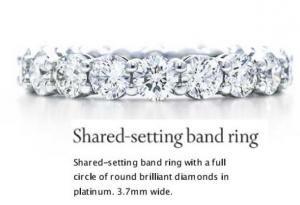 Tiffany Platinum/Diamond Eternity Band