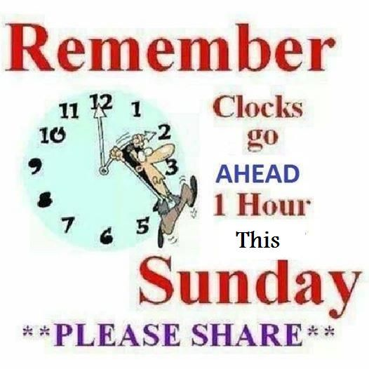 Remember Clocks Go Forward On Sunday Quotes Clock Change Daylight Savings Time Spring Forward Clocks Go Back Daylight Savings Time Clock