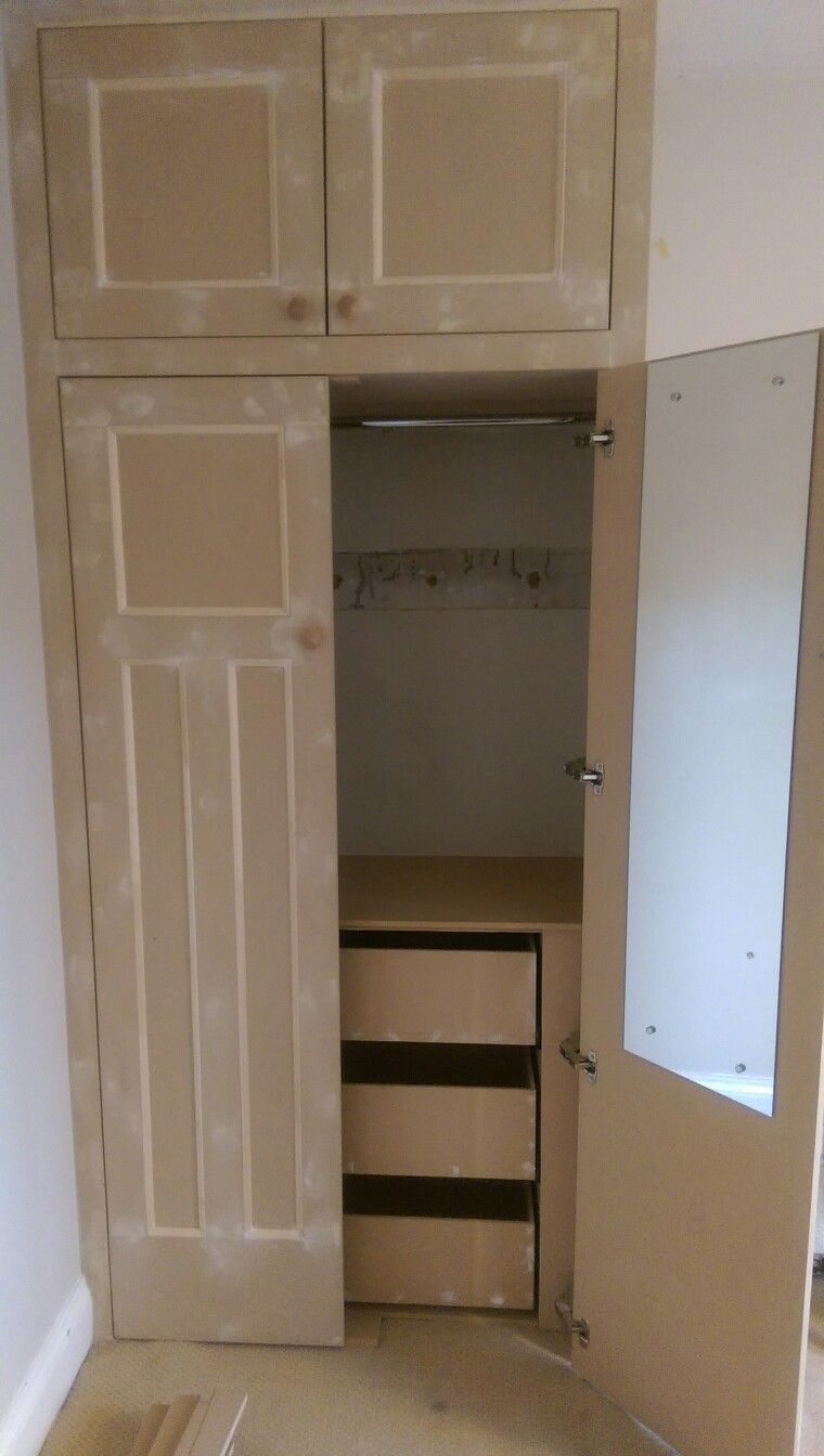 Bedroom wardrobe made from mdf with internal drawers. | Wardrobes ...