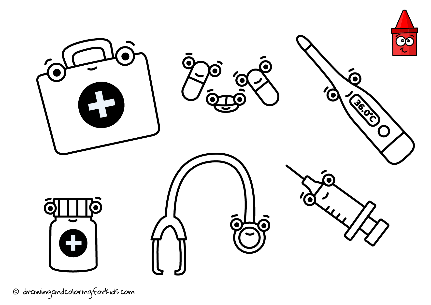 Doctor Kit Coloring Page Coloring Pages