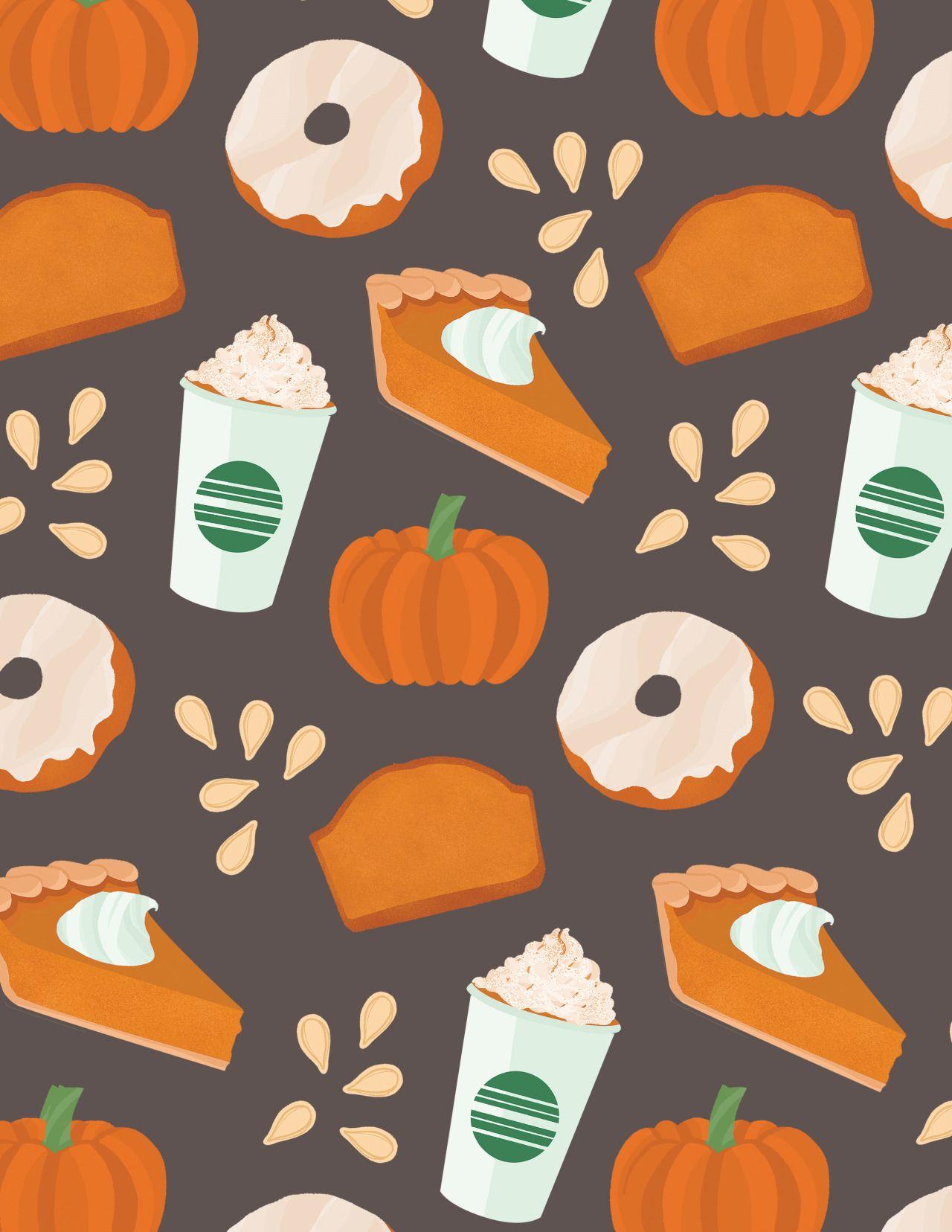 All pumpkin everything Halloween wallpaper, Thanksgiving