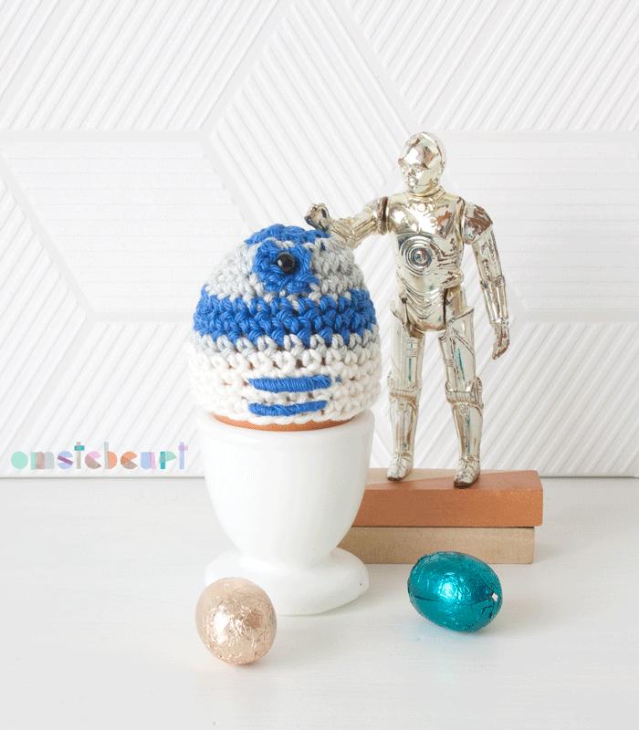 R2d2 Crochet Egg Cozy - omstebeurt #starwars #crochet #amigurumi ...