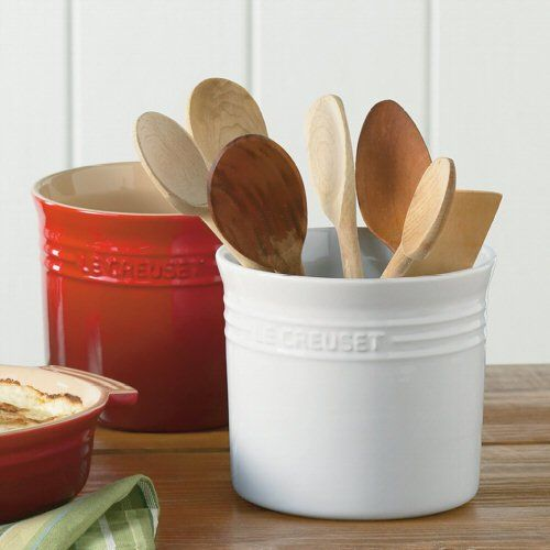Le Creuset Chili Red 2 3 4 Quart Stoneware Utensil Crock Creuset Large Utensils Utensil