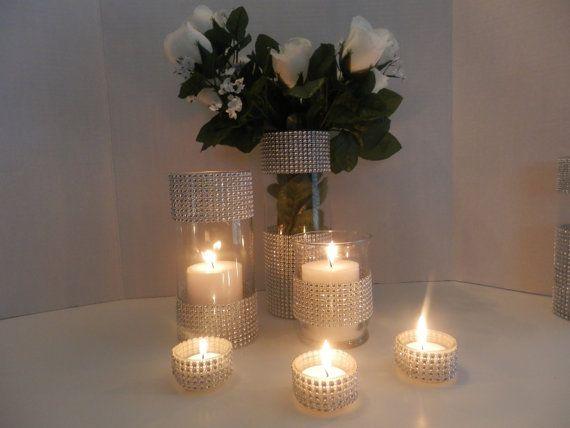 Wedding Centerpiece Home Decorations Candle Holder Rhinestone