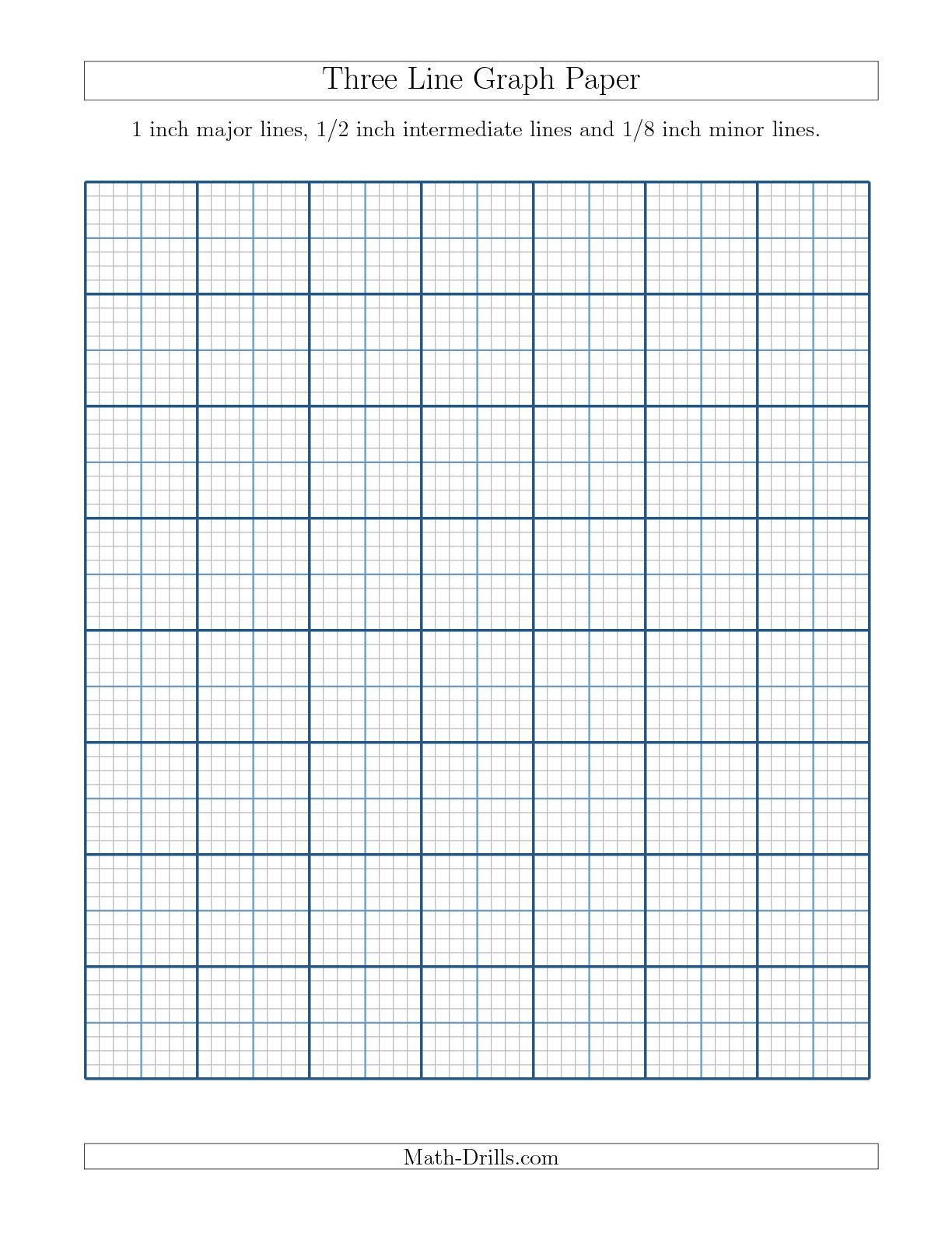 The Three Line Graph Paper With 1 Inch Major Lines, 1/2 Inch Intermediate