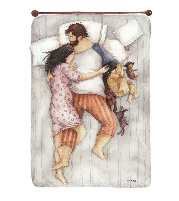 Cuddles Art Print by Soosh. All prints are professionally printed, packaged, and shipped within 3 - 4 business days. Choose from multiple sizes and hundreds of frame and mat options.
