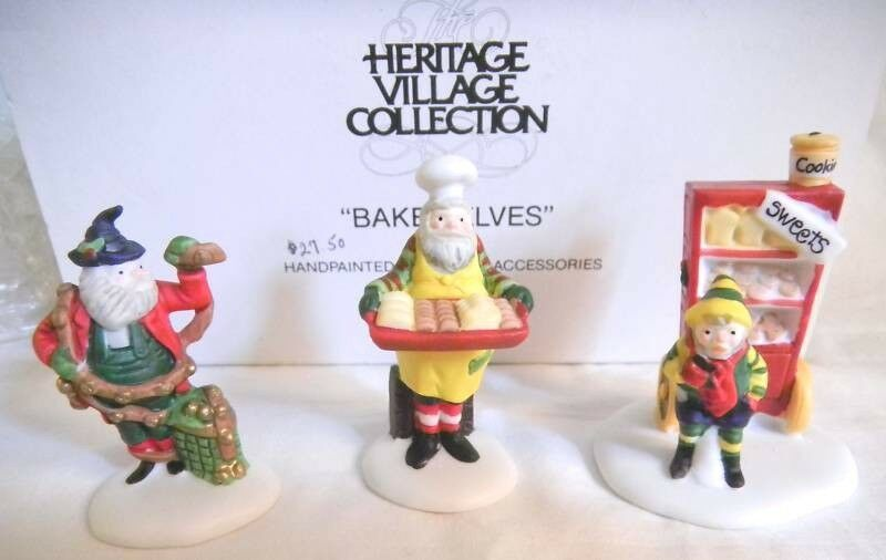 Heritage Village Baker Elves Department 56  Accessory Set of 3 Christmas Holiday #department56