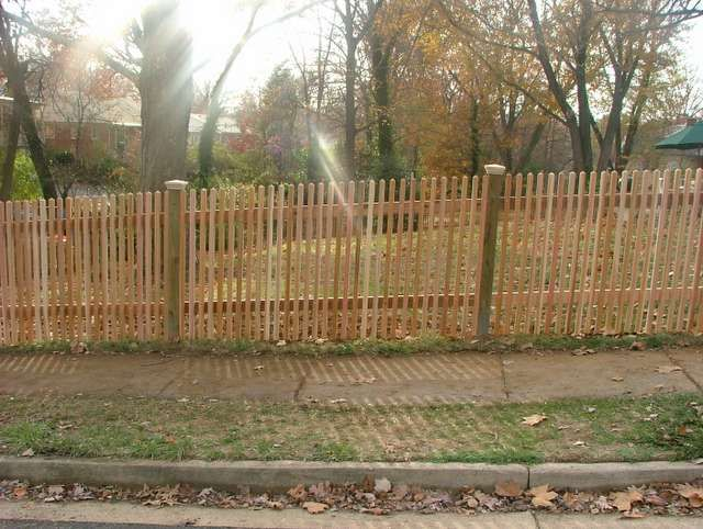 Another Wooden See Through Picket Fence Outdoor Decor