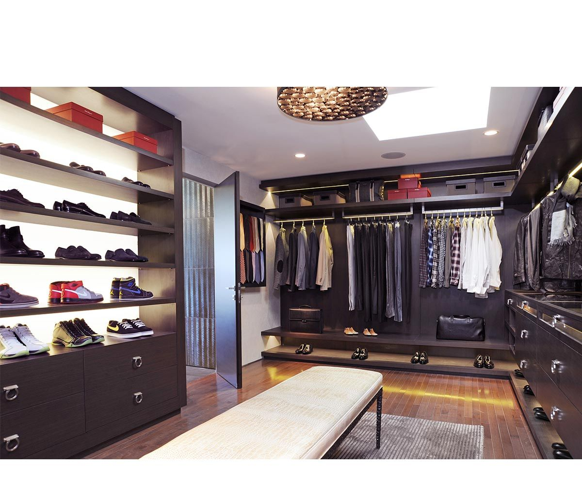 mens walk in closet for more contemporary home ideas. Black Bedroom Furniture Sets. Home Design Ideas