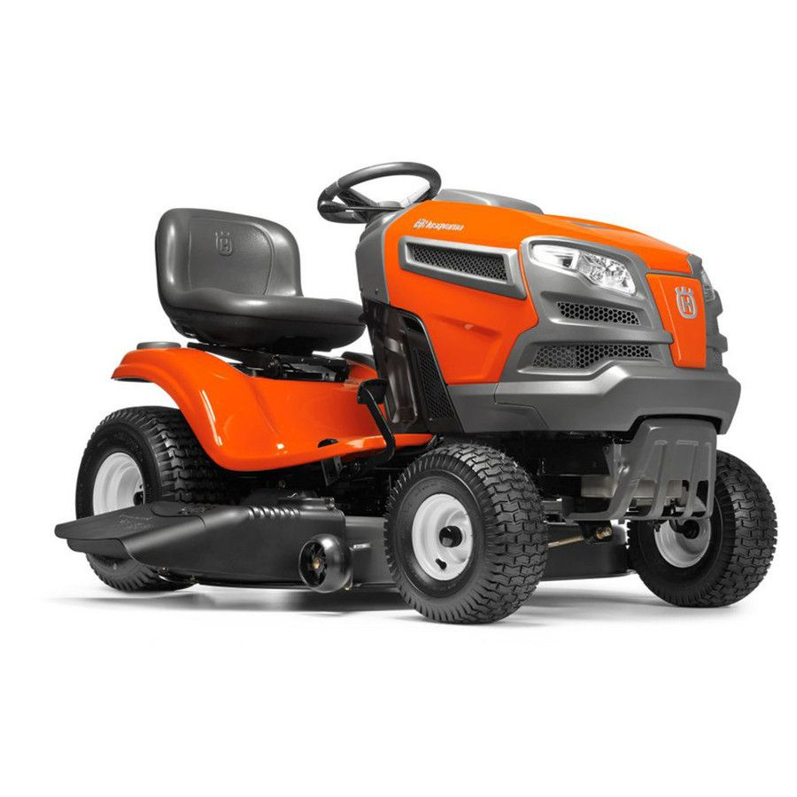Husqvarna Yta22v46ca 22 Hp V Twin Automatic 46 In Riding Lawn Mower With Mulching Capability Kit Sold Separately Carb Lowes Com Riding Lawn Mowers Best Riding Lawn Mower Best Lawn Mower